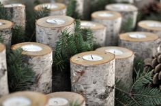 Log tealight holders- awesome tutorial how to make them