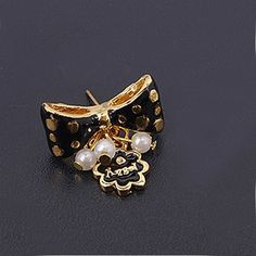 Personalized Asymmetric Bowknot/Flower Fashion Ladies' Stud Drop Earring
