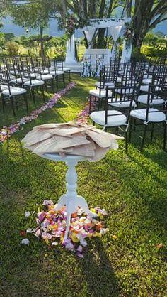 Un bello escenario para una bella boda campestre.