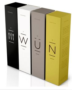 Tall boxes with simple type. Like the concept of the boxes.                                                                                                                                                                                 More