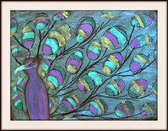 MaryMaking: Peacocks and Butterflies in Chalk Pastel