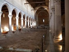 4th and 5th century mosaics in Basilika in Aquileia, Italy UNESCO