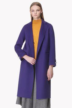 Lambs wool cashmere blend open coat