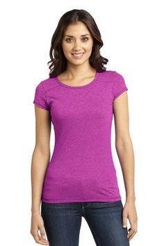 District - Juniors Gravel 50/50 Girly Crew Tee Style DT2400 on sale for $7.98 from Sweatshirtstation.com #pink #tee #crewneck #girlytee