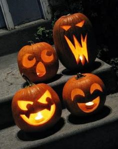 Different pumpkinfaces