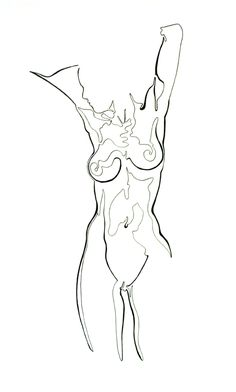 Another single continuous line describing a beautiful female form. I love the human body and with more than two decades of studies...still find a great deal of pleasure in the simple, efficient power a single line can have.bentleyartist.com