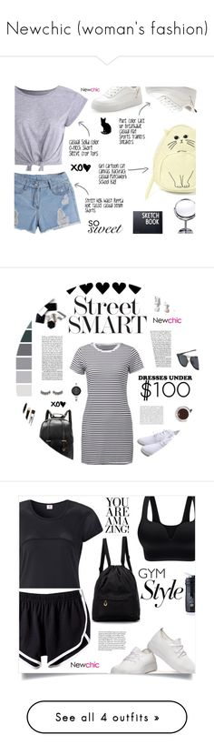 """Newchic (woman's fashion)"" by buflie ❤ liked on Polyvore featuring Design Letters, cute, simple, croptop, newchic, H&M, Oris, StreetStyle, contest and SNEAKERSANDDRESSES"