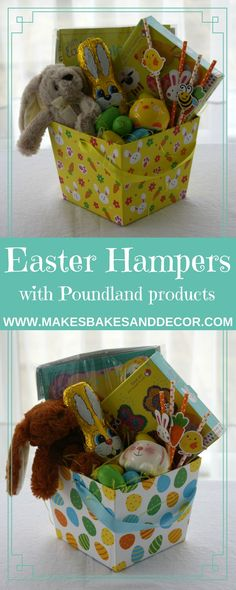 Make this fun kids Easter hamper from Makes, Bakes and Decor today! A great chocolate alternative this Easter full of crafts and activities. All the products I used come from poundland but you can use my hamper to inspire your own regardless of where you shop!