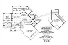 Mill Spring Cottage 11115 H House Plan | House Plans by Garrell Associates, Inc