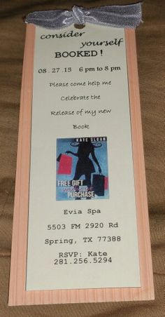 Invites for release party