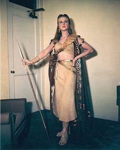 "Angela Lansbury in costume as Samadar for ""Samson and Delilah"""