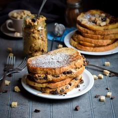 Chocolate Chip Fluffernutter Stuffed French Toast (No Corn Syrup)