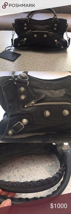 Balenciaga giant hardware city I've only worn the bag once and it's practically brand new! Will not be trading, 100% authentic or money back- bought from saks fifth avenue. No receipt but I have the dust bag Balenciaga Bags Shoulder Bags