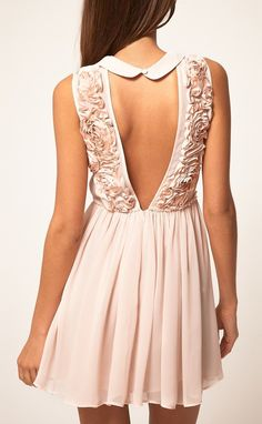 Roses Backless Dress