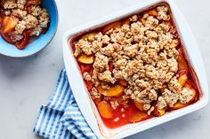 3-Ingredient Peach Crisp with Granola Topping