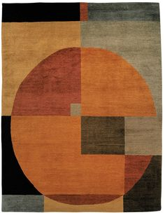 Tufenkian Rugs present the Compass Autumn contemporary rug, part of the Setana collection. Embracing a timeless geometric design and a pure wool construction, this quality hand knotted piece is offered in a range of colors. http://www.cyrusrugs.com/tufenkian-rugs-james-tufenkian-item-10285&category_id=0