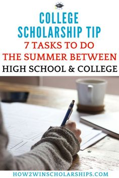 7 Important Tasks to Do the Summer Between High School and College - SAVE this PIN! #college #collegebound #highschool #dorm