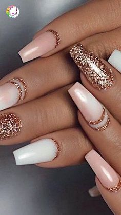 Color Street - Only in Vegas & Coming Up Rose Gold - TOUGH AS NAILS - You are in the right place about chrome Nail Here we offer you the most beautiful pictures about t - Gold Acrylic Nails, Rose Gold Nails, Acrylic Nail Designs, Holiday Acrylic Nails, Blush Nails, Sassy Nails, Cute Nails, Stylish Nails, Trendy Nails
