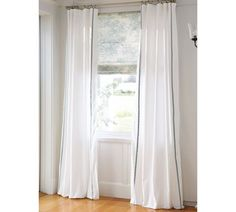Pearl Embroidered Drapes With Matine Toile Roman Shade From Pottery Barn.  Bedroom ...