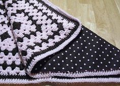 this is the best thing ever... granny squares and polka dots!!