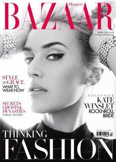 UK Harper's Bazaar April 2013 Kate Winslet by Alex Lubomirski