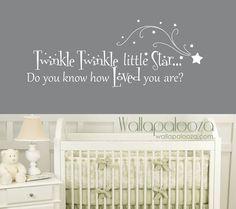 Twinkle Twinkle Little Star Wall Decal  by WallapaloozaDecals
