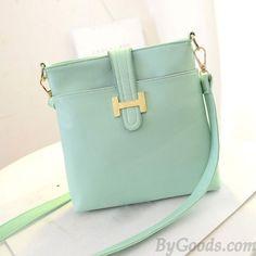 dc7b099136  lt 3 Light Mint Green Small Handbag with Golden Buckle