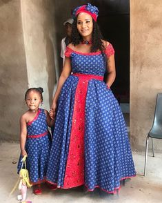 """Boikutlo Kgatuke on Instagram: """"With my beautiful family.The greatest treasures of my life.The ones that turned my smile into something so beautiful and bright.......Words…"""" African Dresses For Kids, Latest African Fashion Dresses, African Dresses For Women, African Attire, African Women, Xhosa Attire, African Beauty, Pedi Traditional Attire, Sepedi Traditional Dresses"""