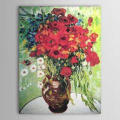 Jarrón con Margaritas y Amapolas de Vincent Van Gogh