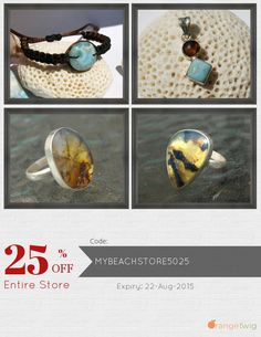 Get 25% OFF our Entire Store now! Enter Coupon Code: MYBEACHSTORE5025 Restrictions: Min purchase: USD 100.00, Expiry: 22-Aug-2015. Click here to avail coupon: https://orangetwig.com/shops/AABCLyV/campaigns/AABExpB?cb=2015008&sn=MyBeachStore&ch=pin&crid=AABExpT