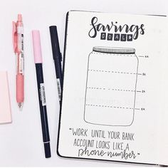 Bullet Journal Savings Trackers {Save money and smash your goals!} : Bullet Journal Savings Trackers {Save money and smash your goals!} These bullet journal savings trackers are just what you need to save money and smash your goals this year! Bullet Journal Inspo, Bullet Journal Savings Tracker, Bullet Journal Spreads, Bullet Journal Notebook, Bullet Journal Layout, Bullet Journal Entries, Bullet Journal Finance, Bullet Journals, Savings Jar