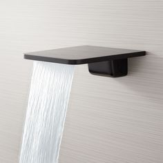 The Knox Waterfall Tub Faucet has an ultra-modern design that instantly updates your bathroom. The slim, flat design of this product is beautifully uncomplicated, making it an excellent option to incorporate into existing decor. Made of solid brass, the K Zen Bathroom, Bathroom Fixtures, Modern Bathroom, Bathroom Ideas, Bathroom Cabinets, Small Bathroom, Bathroom Plans, Bathroom Plumbing, Bathroom Showers