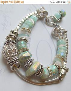 ON SALE bracelet bangle bracelet aquamarine by soulfuledges