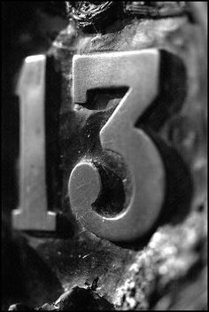 Number 13 on a wall Lucky Number 13, What's Your Number, Power Balls, Astrology Numerology, Numerology Numbers, Letters And Numbers, Alphabet, How Are You Feeling, Logo