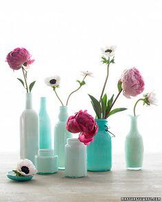 Painted jars as vases