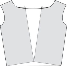 draped front - just slice the front section of your shirt and tilt it out.  The added width will create the drape.  Easy Peasy!