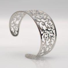 Bracelet Manchette en Arabesques  Cuff bracelet in Arabesques  www.honore-bijoux.com