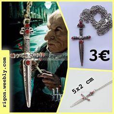 COLLANA HARRY POTTER  SWORD OF GRYFFINDOR COMPLETAMENTE ARGENTATA NOVITÀ
