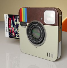 So fun! Instagram camera. Works like a Poloroid. But doesn't exist quite yet.