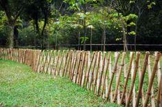 clôture de jardin en bois et bambou