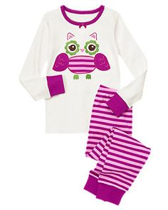 Stripe Owl Two-Piece Gymmies @Gymboree