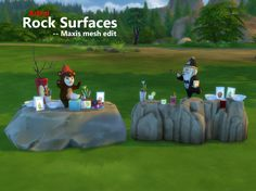 Mod The Sims - Rock surfaces - Maxis mesh edit