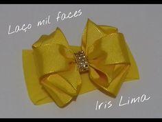 Como fazer laço mil faces Diy ,Tutorial ,Pap By Iris Lima How To Make a . Diy Ribbon, Ribbon Crafts, Flower Crafts, Ribbon Bows, Diy Flowers, Fabric Flowers, Ribbons, Hair Bow Tutorial, Flower Tutorial