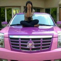 Pink Escalade! Love it