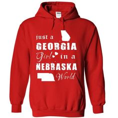 GEORGIA GIRLS IN NEBRASKA - #ringer tee #tshirt dress. FASTER => https://www.sunfrog.com/No-Category/GEORGIA-GIRLS-IN-NEBRASKA-8816-Red-15881212-Hoodie.html?68278