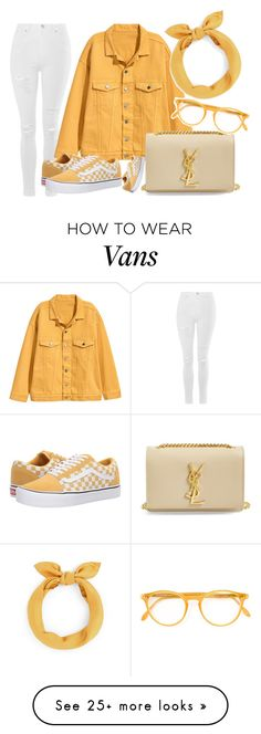 """Untitled #2711"" by iamclaudine on Polyvore featuring Topshop, Vans, Yves Saint Laurent and Pantos"