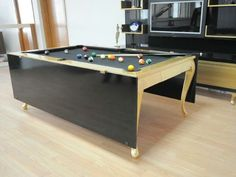 Combo Pool Table Dining Table Gold
