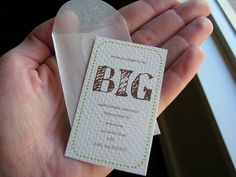 Such a tiny party invite!