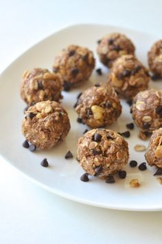 4. No-Bake Cookie Dough Energy Bites http://greatist.com/eat/vegan-breakfast-recipes-you-can-make-15-minutes-or-less