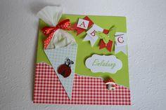 Einladung.. Glückwunschkarte.. Einschulung Karte von Kartenträume & Fotozauber auf DaWanda.com